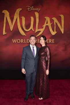 HOLLYWOOD, CALIFORNIA - MARCH 09: (L-R) Producer Jake Weiner and Maurine Slutsky attend the World Premiere of Disney's 'MULAN' at the Dolby Theatre on March 09, 2020 in Hollywood, California. (Photo by Alberto E. Rodriguez/Getty Images for Disney)