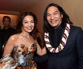 HOLLYWOOD, CALIFORNIA - MARCH 09: Ming-Na Wen and Jason Scott Lee attend the World Premiere of Disney's 'MULAN' at the Dolby Theatre on March 09, 2020 in Hollywood, California. (Photo by Alberto E. Rodriguez/Getty Images for Disney)