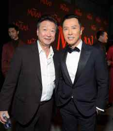 HOLLYWOOD, CALIFORNIA - MARCH 09: (L-R) Tzi Ma and Donnie Yen attend the World Premiere of Disney's 'MULAN' at the Dolby Theatre on March 09, 2020 in Hollywood, California. (Photo by Charley Gallay/Getty Images for Disney)