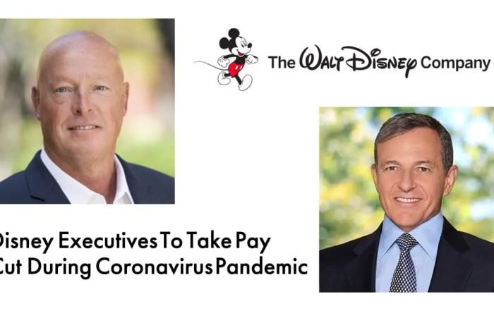 Disney Executives To Take Pay Cut During Coronavirus Pandemic