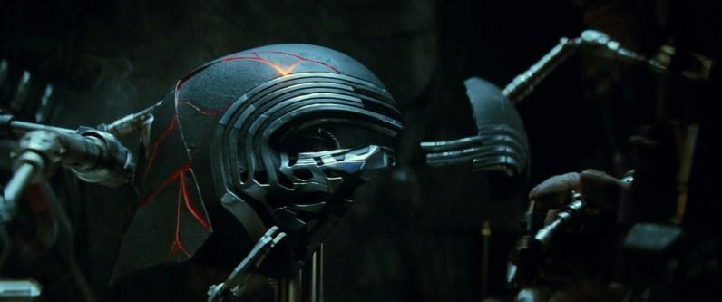 Kylo Ren's restored helmet in STAR WARS: EPISODE IX.