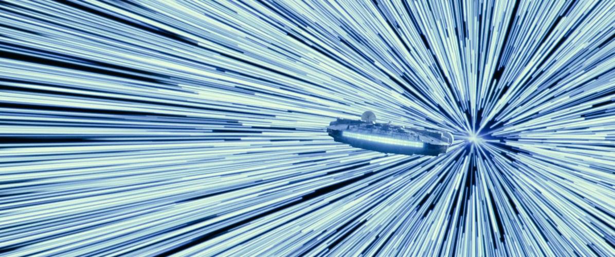 The Millenium Falcon in STAR WARS: EPISODE IX.