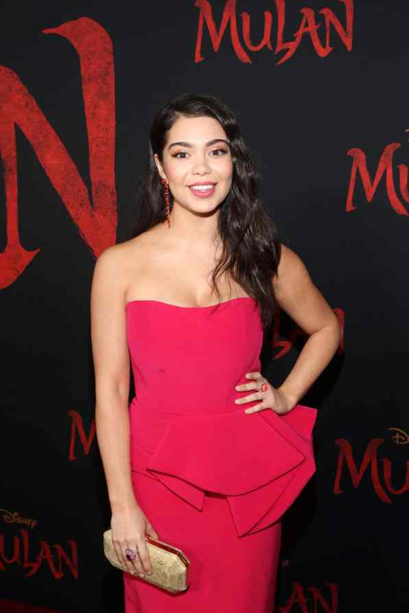 HOLLYWOOD, CALIFORNIA - MARCH 09: Auli'i Cravalho attends the World Premiere of Disney's 'MULAN' at the Dolby Theatre on March 09, 2020 in Hollywood, California. (Photo by Jesse Grant/Getty Images for Disney)