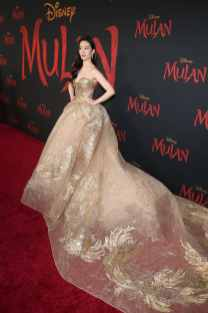 HOLLYWOOD, CALIFORNIA - MARCH 09: Yifei Liu attends the World Premiere of Disney's 'MULAN' at the Dolby Theatre on March 09, 2020 in Hollywood, California. (Photo by Jesse Grant/Getty Images for Disney)