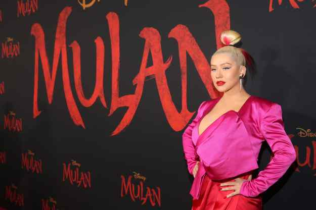 HOLLYWOOD, CALIFORNIA - MARCH 09: Christina Aguilera attends the World Premiere of Disney's 'MULAN' at the Dolby Theatre on March 09, 2020 in Hollywood, California. (Photo by Jesse Grant/Getty Images for Disney)