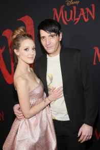 HOLLYWOOD, CALIFORNIA - MARCH 09: (L-R) Evelyn Leigh and David Dastmalchian attend the World Premiere of Disney's 'MULAN' at the Dolby Theatre on March 09, 2020 in Hollywood, California. (Photo by Jesse Grant/Getty Images for Disney)
