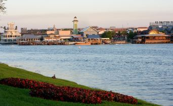 Disney Springs is an exciting, new waterfront district for world-class shopping, unique dining, and high-quality entertainment at Walt Disney World Resort. Located along the shores of Lake Buena Vista, Disney Springs is undergoing its largest expansion in history. Inspired by Florida's waterfront towns and natural beauty, Disney Springs has four distinct outdoor neighborhoods: The Landing, Marketplace, West Side and Town Center, all interconnected by a flowing spring and vibrant lakefront. Completion of Disney Springs is set for summer 2016. Disney Springs is located at Walt Disney World Resort in Lake Buena Vista, Fla. (Todd Anderson, photographer)