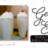Peanut Butter & Jelly Milk Shake from 50's Prime Time Café - GEEK EATS Disney Recipe