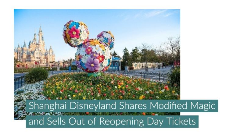 Shanghai Disneyland Shares Modified Magic and Sells Out of Reopening Day Tickets