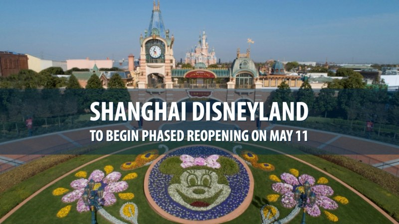 Shanghai Disneyland to Begin Phased Reopening on May 11