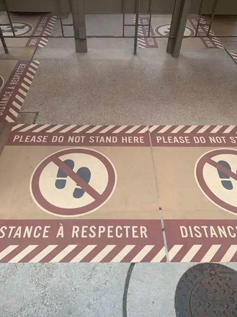 Social Distance Signs at Disneyland Paris