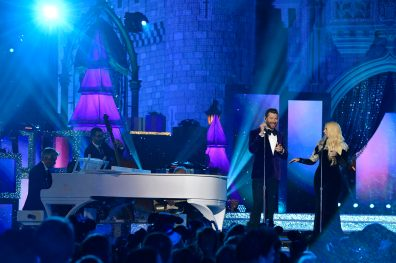 "GRAMMY® Award-winner Meghan Trainor and Brett Eldridge share a sweet rendition of ""Baby It's Cold Outside"" in 'The Wonderful World of Disney: Magical Holiday Celebration,' airing NOV. 26 (9:00-11:00 p.m. ET/PT) on ABC. This performance was previously recorded in 2018 in Magic Kingdom Park at Walt Disney World Resort in Lake Buena Vista, Fla. (Mark Ashman, photographer)"