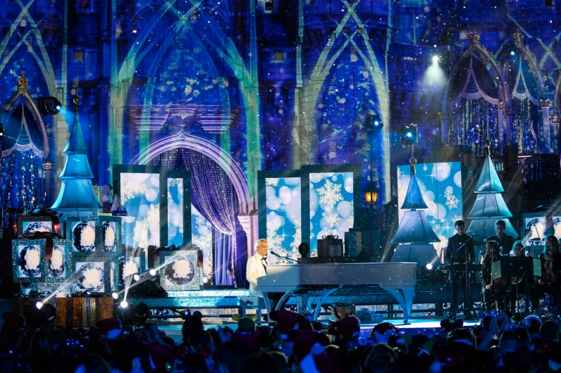 "World renowned Italian tenor Andrea Bocelli lends his voice to a rendition of ""White Christmas"" in 'The Wonderful World of Disney: Magical Holiday Celebration,' airing NOV. 26 (9:00-11:00 p.m. ET/PT) on ABC. This performance was previously recorded in 2018 in Magic Kingdom Park at Walt Disney World Resort in Lake Buena Vista, Fla. (Steven Diaz, photographer)"