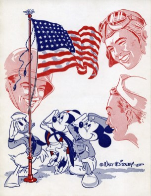 Hank Porter (United States, 1900 - 1951); Masquer's Servicemen's Morale Corps program card, 1943-44. Courtesy of Kent Ramsey; (c) Disney