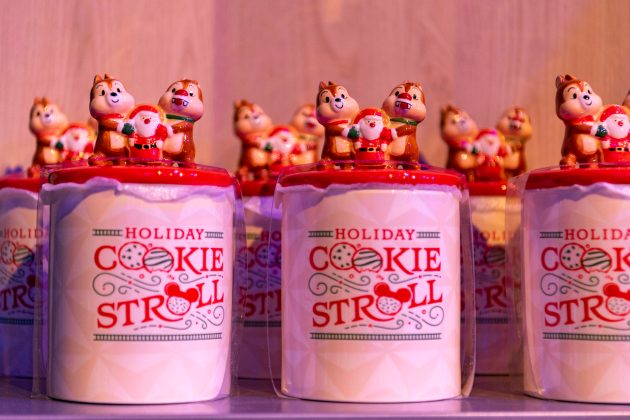 The Taste of EPCOT International Festival of the Holidays presented by AdventHealth brings seasonal fun from around the globe to the Walt Disney World Resort theme park in Lake Buena Vista, Fla., through Dec. 31, 2020. Guests can find festival merchandise including spirit jerseys, ornaments, Minnie ear headbands, the Holiday Cookie Stroll cookie jar and more. (Matt Stroshane, photographer)