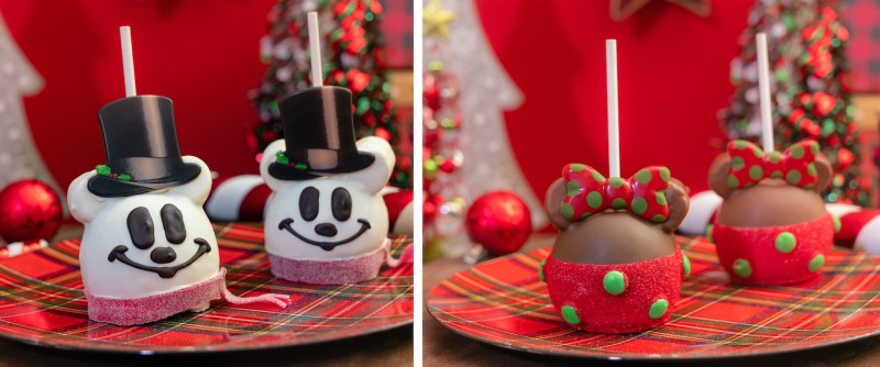 Mickey Snowman Apple & Minnie Holiday Apple
