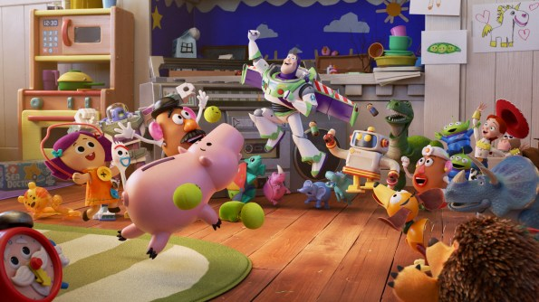 "Debuting exclusively on Disney+ on Jan. 22, 2021, Pixar Animation Studios' ""Pixar Popcorn"" is a collection of mini shorts featuring Pixar characters in all-new, bite-size stories, including ""To Fitness and Beyond,"" featuring favorites from ""Toy Story 4."" © 2021 Disney/Pixar. All Rights Reserved."