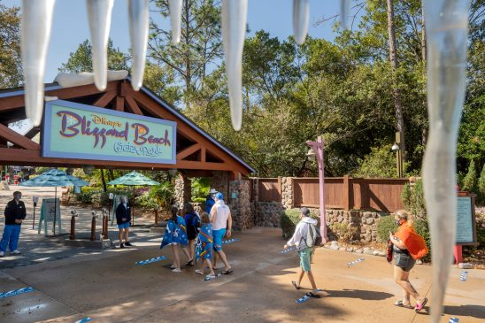 Disney's Blizzard Beach reopened March 7, 2021, at Walt Disney World Resort in Lake Buena Vista, Fla. The water park offers thrilling attractions and relaxation for all ages with unique spaces for every member of the family to enjoy. (Kent Phillips, photographer)