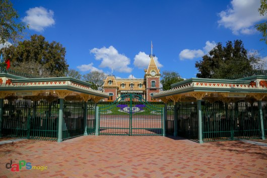 The entrance of Disneyland