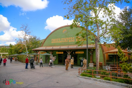 Smokejumpers Grill on a Friday morning almost a year to the day since Disney California Adventure closed