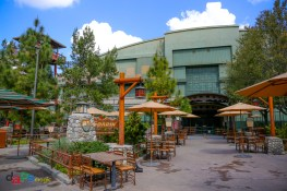 The area around Soarin' is set up for dining