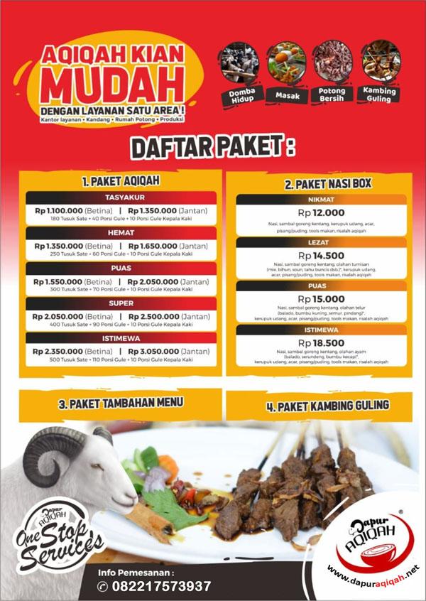 Aqiqah Murah Bandung - Dapur Aqiqah