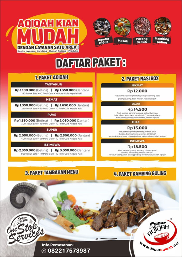 Paket Akikah Bandung 2021 - Dapur Aqiqah