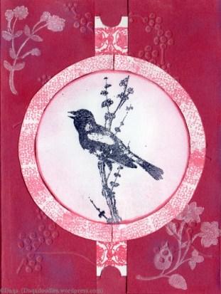 Bird and cherry blossom