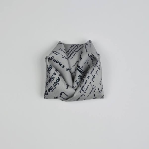 Origami folded silk twill pocket square