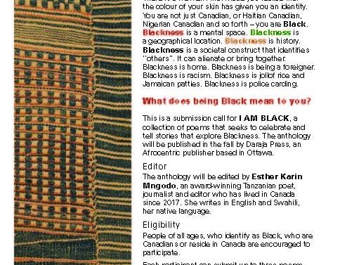 I AM BLACK — Call for proposals
