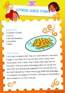 J&R Citrus Gold Fish Recipe Card