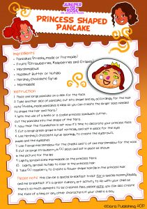 J&R Princess Pancake Recipe Card
