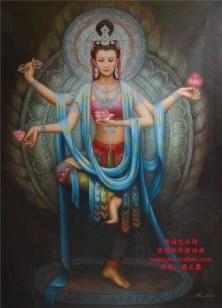 free-shipping-pure-hand-painting-oil-painting-font-b-buddha-b-font-when-bodhisattva-entranceway-decoration