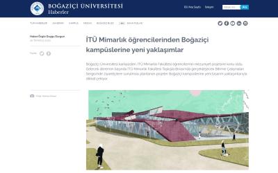 İTÜ Mimarlık öğrencilerinden Boğaziçi kampüslerine yeni yaklaşımlar