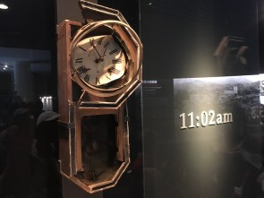 Clock stopped by explosion