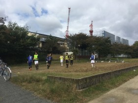 Soccer by the river in Kyoto