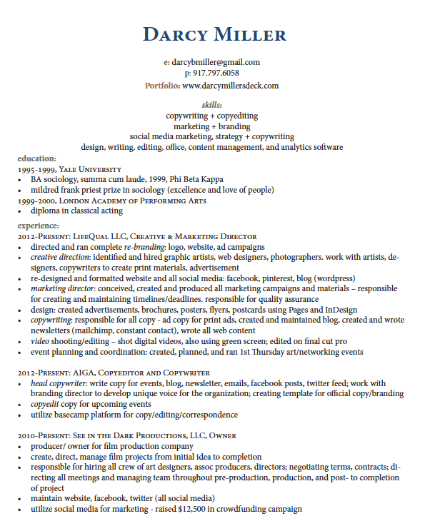related with freelance writer resume