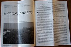 2 photographs printed in Alberta Views magazine