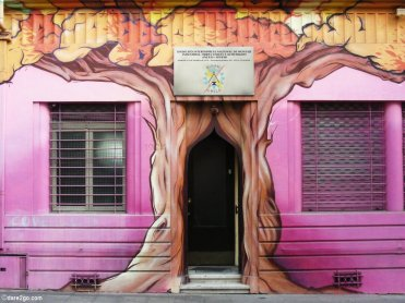 Fantasy Tree Entrance - Street Art