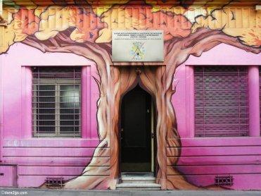 Fantasy Tree Entrance - Street Art