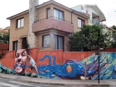 Street Art corner, unfortunately vandalised
