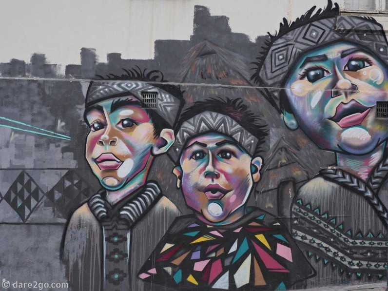 StreetArt: three boys