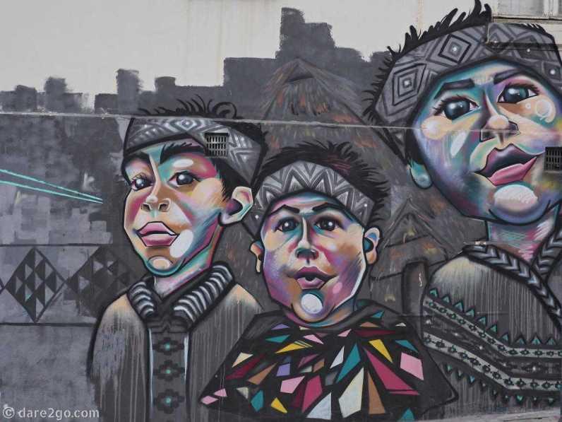 StreetArt: three boys