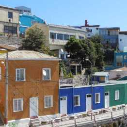 Valparaiso: colourful houses clinging to the hills