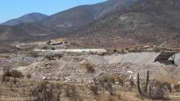 mining in dry landscape outside Illapel