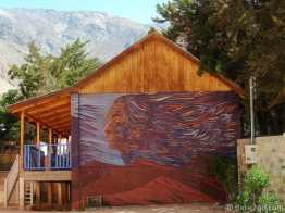 Pisco Elqui, large mosaic on school wall