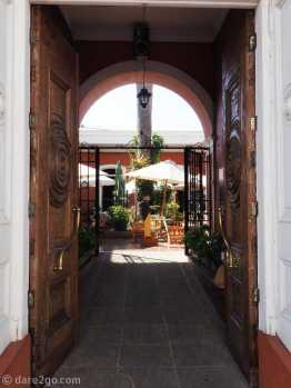 La Serena: one of the lovely courtyard cafes