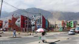 Antofagasta: mosaic facades and colour enhance these plain apartment blocks