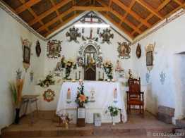 Socaire: inside the old church