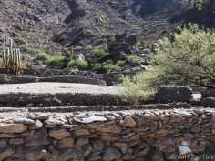 The terraces at Quilmes. Some have decorative patterns laid in white quartz stones.